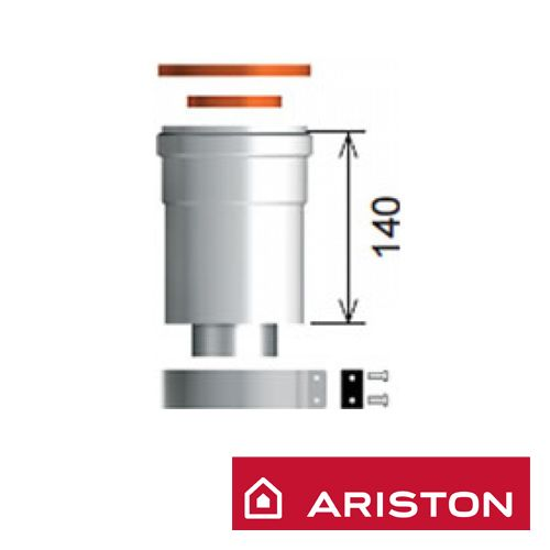 Ariston 60/100 mm-es Függőleges indítóidom, alu/pps ( 3318079 )